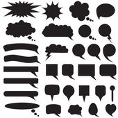 Set silhouette speech bubbles — Stock Vector