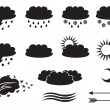 Weather symbols — Stock vektor