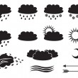 Stock Vector: Weather symbols
