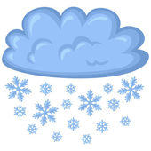 Cloud of snow — Stock Vector