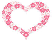 Valentine heart frame — Stock Vector
