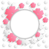 Flower greeting background — Stock Vector