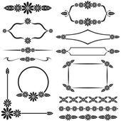 Floral design element set — Wektor stockowy