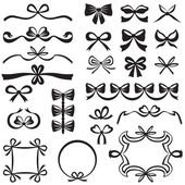 Bow design element set — Stockvektor