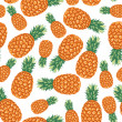 Постер, плакат: Pineapples fruit pattern seamless