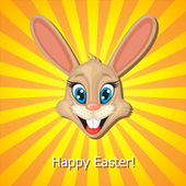 Easter rabbit muzzle — Vettoriale Stock