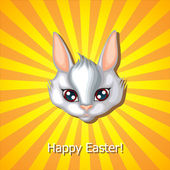 Easter rabbit muzzle — Stok Vektör