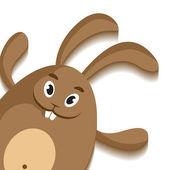 Paskalya tavşanı kartı — Stok Vektör
