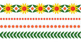 Flowers garlands set — Stock Vector