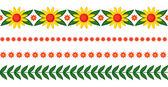 Blommor kransar set — Stockvektor