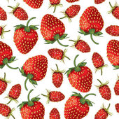 Wild strawberries and strawberries pattern seamless — Stock Vector