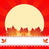 Autumn greeting frame — Stock Vector