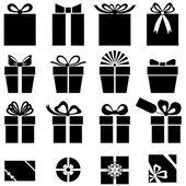 набір подарунків іконка — Vecteur