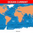 Ocean surface currents - Stok Vektör