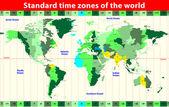 Time zones. vector map — Stock Vector