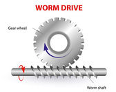 Worm drive or Torsen differential — Stockvector