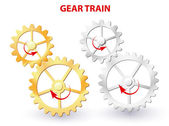 Gear train — Stock Vector