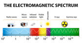 The electromagnetic spectrum vector diagram — Stock Vector