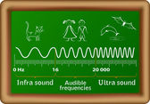 The sound waves vector diagram — Vettoriale Stock