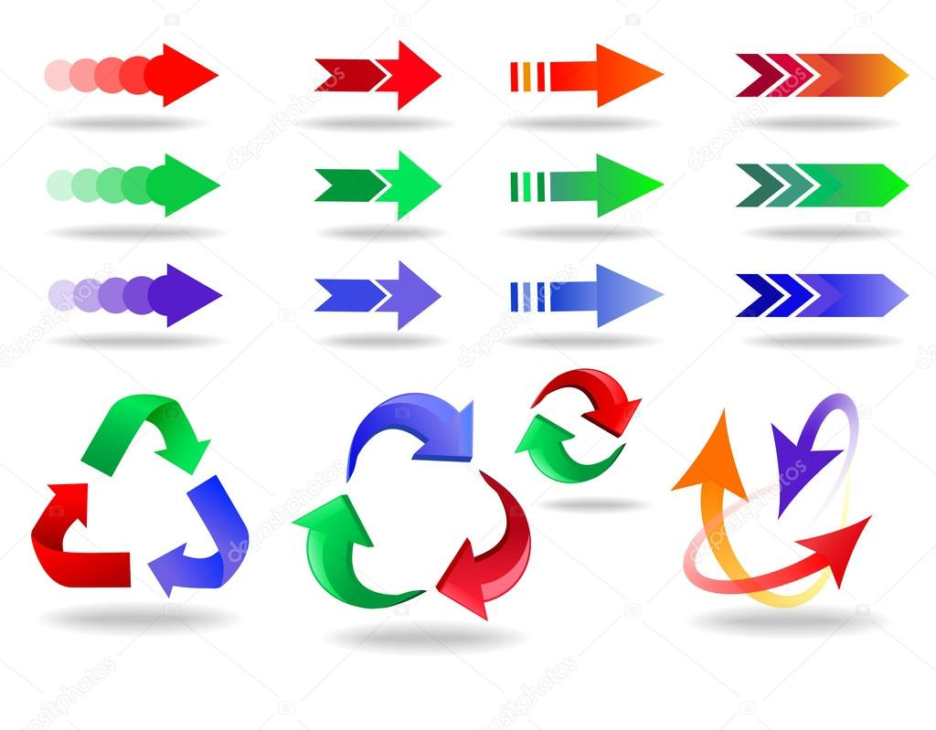 Arrow Icon Set Arrow Icons Set Colorful