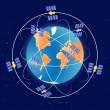 Stock Vector: Global Positioning System gps