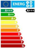 New European Union energy label — Stock Vector