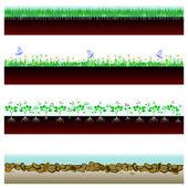 Banner soil cutaway — Stockvector