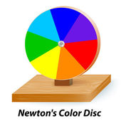 Newton's Color Disc Wheel — Stock Vector