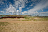 Desert of Mongolia — Stock Photo