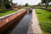 The lock on the canal Mazury — Stock Photo