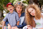 Family on vacation — Stock Photo