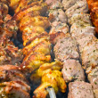 Russian meat. shashlyk barbeque — Stock Photo