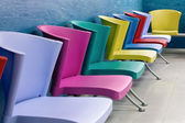 Colorful chairs in a waiting room — Stock Photo