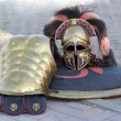 Corinthian Spartan soldier uniform — Stock Photo