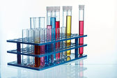 Rack with test tubes — Stock Photo