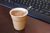 Coffee break in the office — Stock Photo