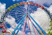 A ferris wheel on a fair — Stock Photo