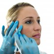 Young woman getting a botox treatment — Stock Photo #46513785