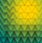 Texture of yellow green triangles. — Stock Vector
