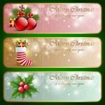 Christmas vintage horizontal banners. — Stock Vector #13711105