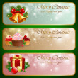 Stock Vector: Christmas vintage horizontal banner.