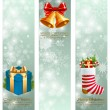 Christmas vintage vertical banners. — Stock Vector #13711118