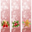Christmas vintage vertical banners. — Stock Vector
