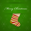 Merry christmas background with sock. — Stock Vector #14529727
