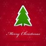 god jul bakgrund med fir tree — Stockvektor
