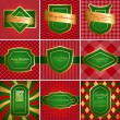 Set of christmas vintage backgrounds. — Stock Vector #14530185