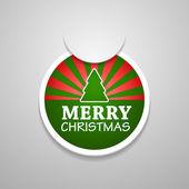 Círculo adjuntar etiqueta navidad feliz. — Vector de stock