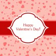 Valentines day greeting card. — Vector de stock #19850549