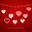 Valentine's day postcard. — Stock Vector
