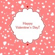 Valentines day greeting card. — Vector de stock